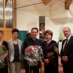 After the concert with Helmtraud Nieke at Laurentius Church Stuttgart